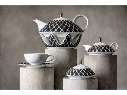 Atelier JM Lesov, Galaxie, čajový souprava, luxusní porcelán