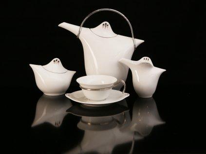 Porcelánová čajová souprava - Kapka 391 | Luxusní porcelán - Atelier JM Lesov