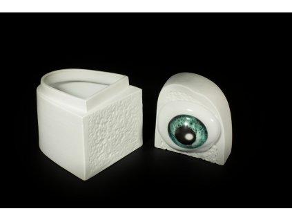 dóza na šperky, šperkovnice, porcelánová dóza,karlovarský porcelán, český porcelán, cesky porcelan, porcelán, porcelán prodej, Atelier Lesov, oko, chleba, chléb, porcelánový chléb, porcelánové oko, extrémní design