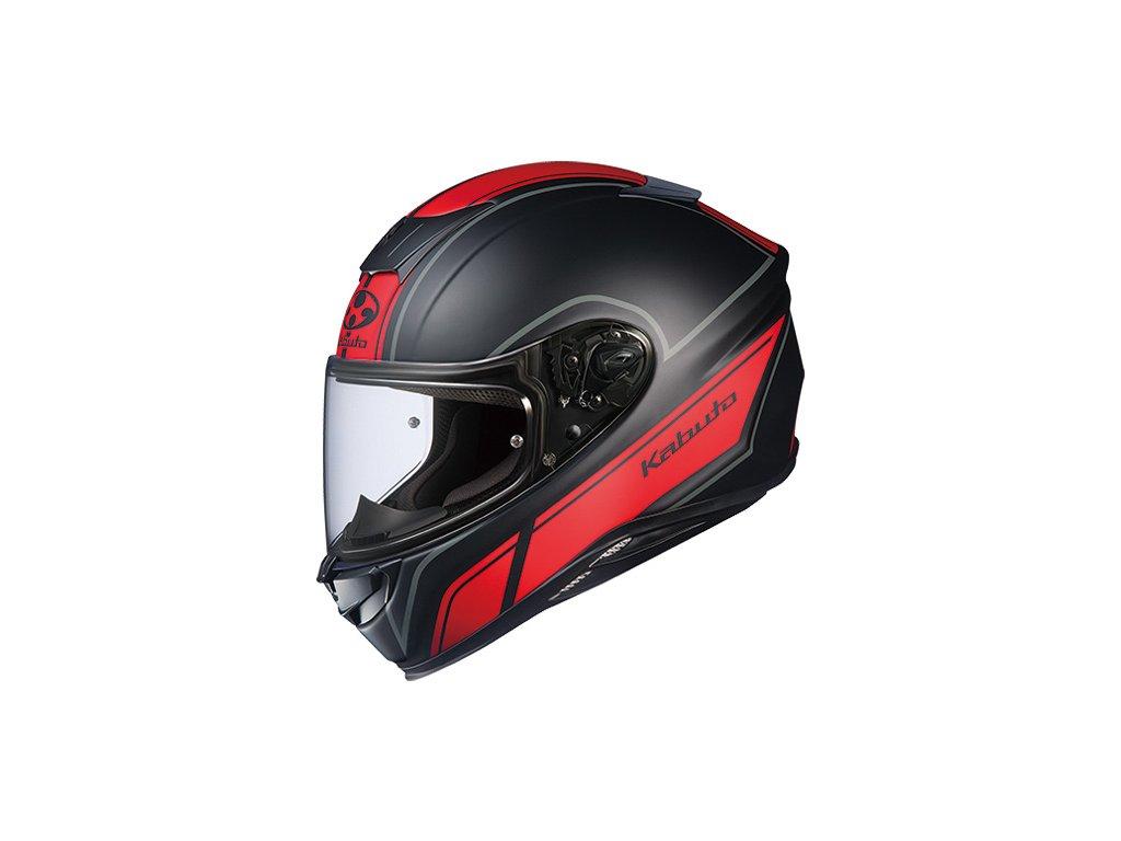 Kabuto Aeroblade 5 Smart Flat Black Red