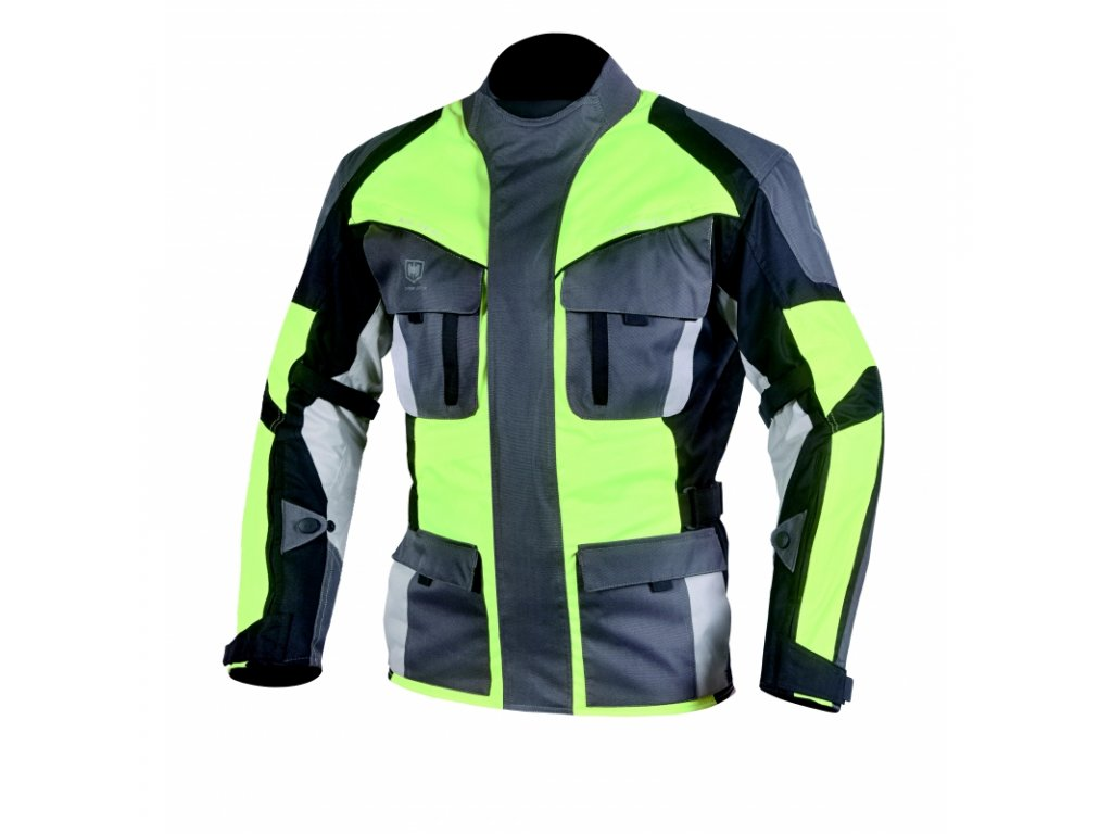 panska textilni moto bunda cyber gear tour long fluo