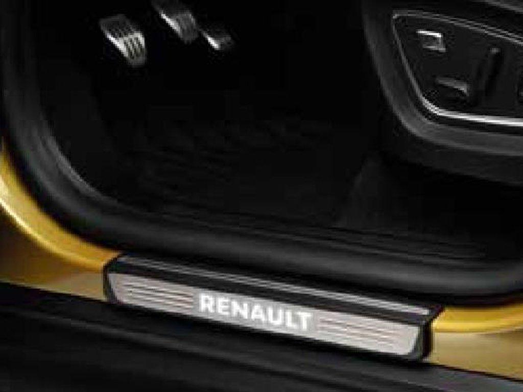 Vnitřní osvětlené prahy dveří s nápisem Renault přední – nerezová ocel