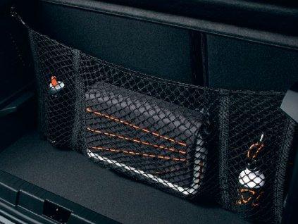 Upevňovací kroužky pro horizontální síť zavazadlového prostoru (4 kroužky a 4 šrouby)
