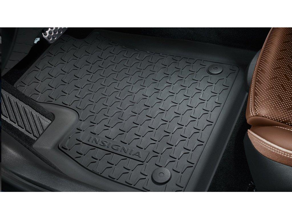 Podlahové rohože gumové černé Opel Insignia