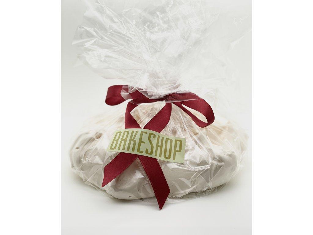 Velká meringue s mandlovými lupínky