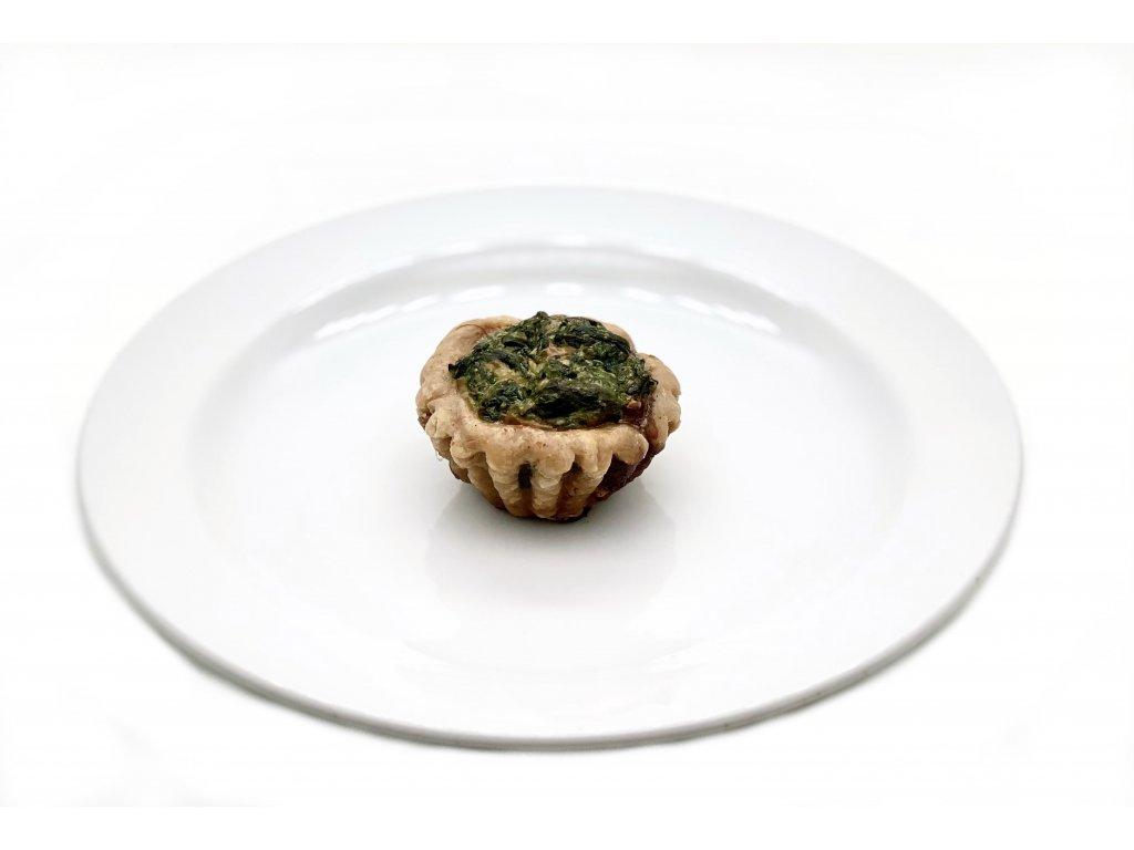 Mini košíček - Quiche Špenát