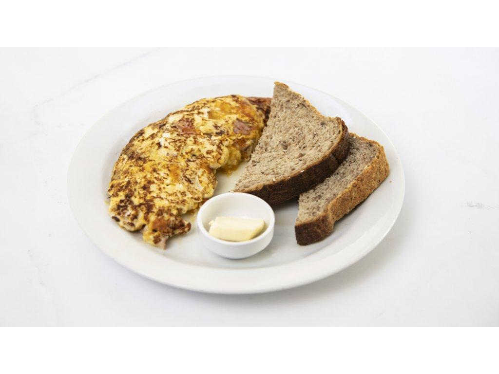 omeleta šunka chedar