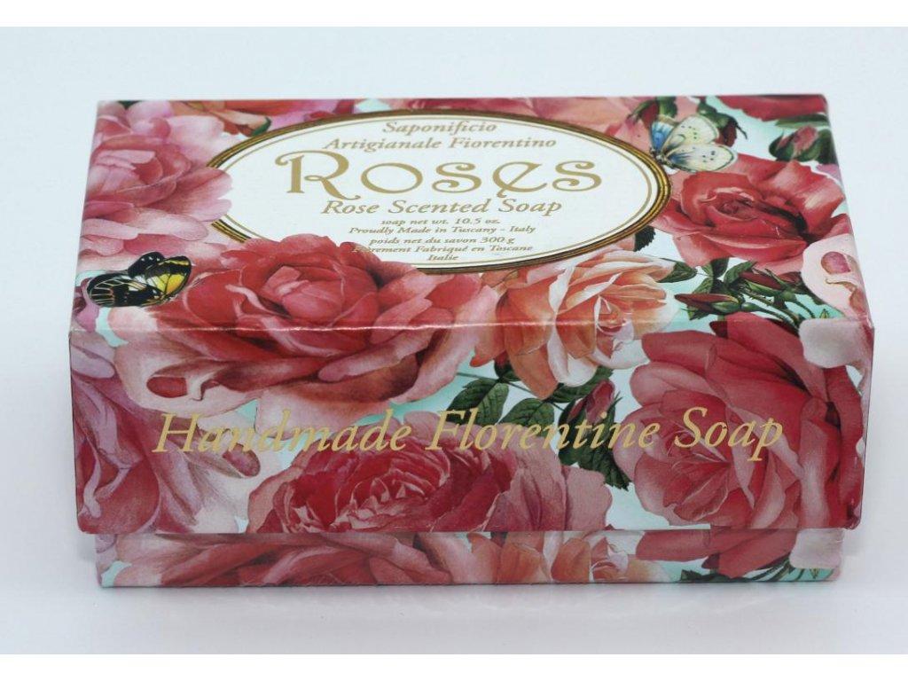 Mýdlo velké růže v dárkové krabičče