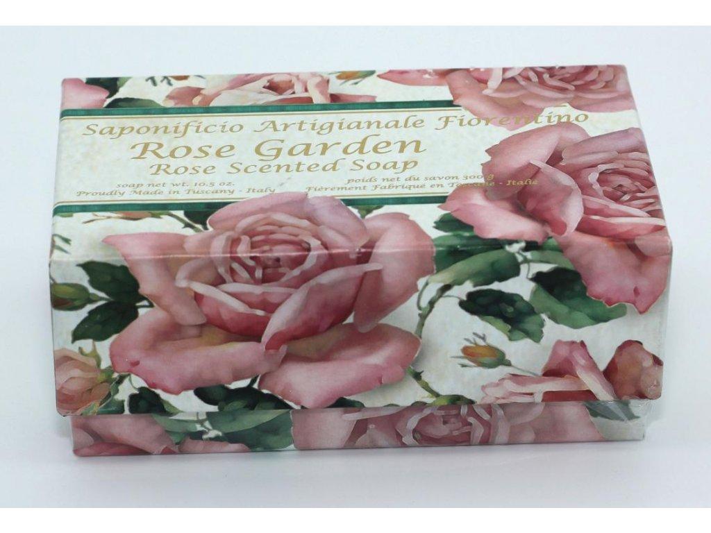Mýdlo velké růže garden v dárkové krabičce