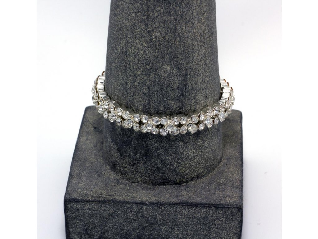 Náramek stříbrný kamínkový