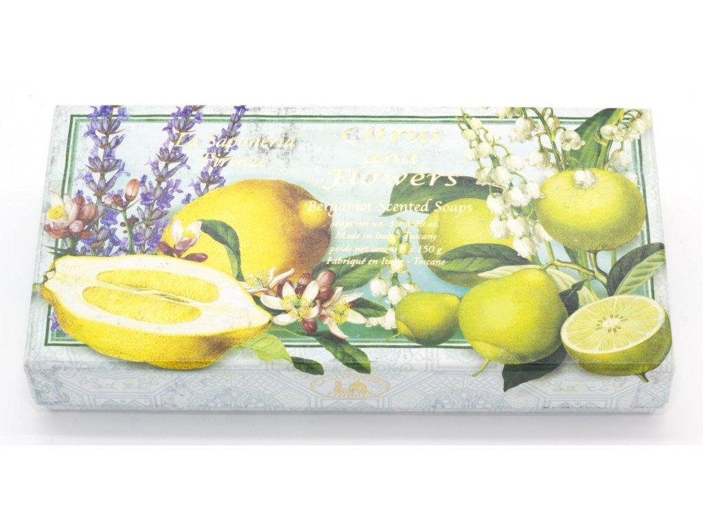 Kazeta mýdel citrus and flowers