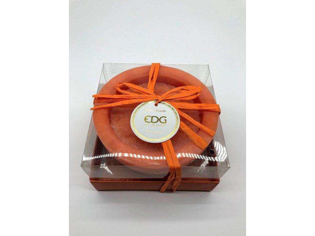 Svíčka EDG oranžová 3 knoty