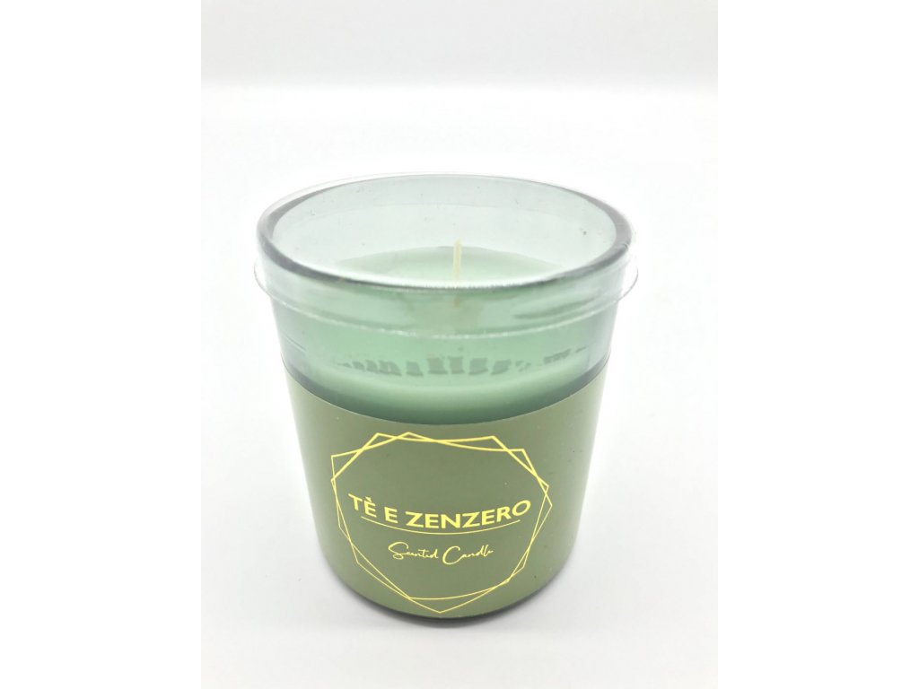 Svíčka ve skle bílý čaj a zázvor