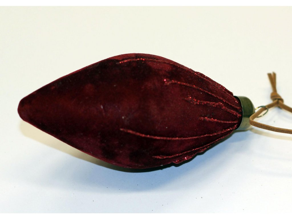 Ozdoba vínová sametová špička