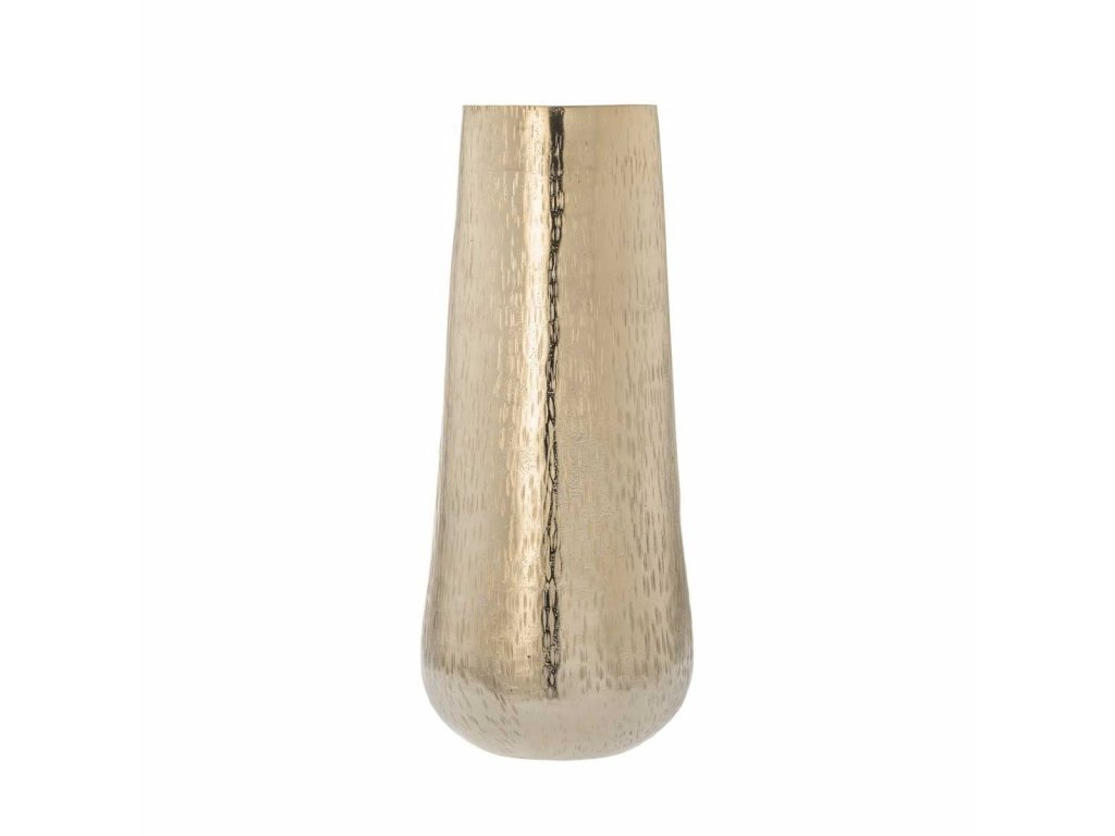 Váza kov tepaná zlatá Amy 42 cm