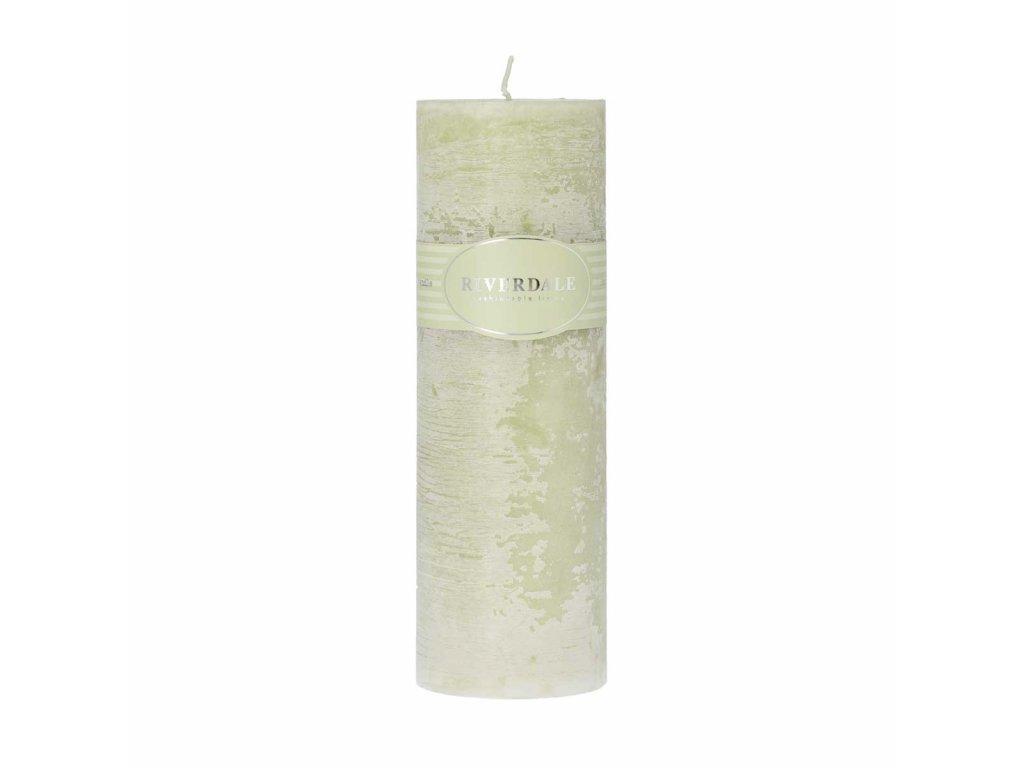Svíčka pistáciová hladká 7,5 x 23 cm