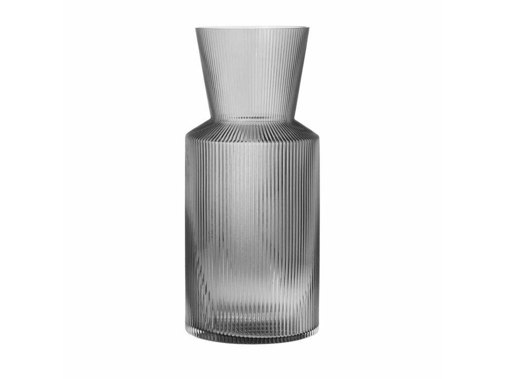 Váza sklo kouřová moderní 40 cm