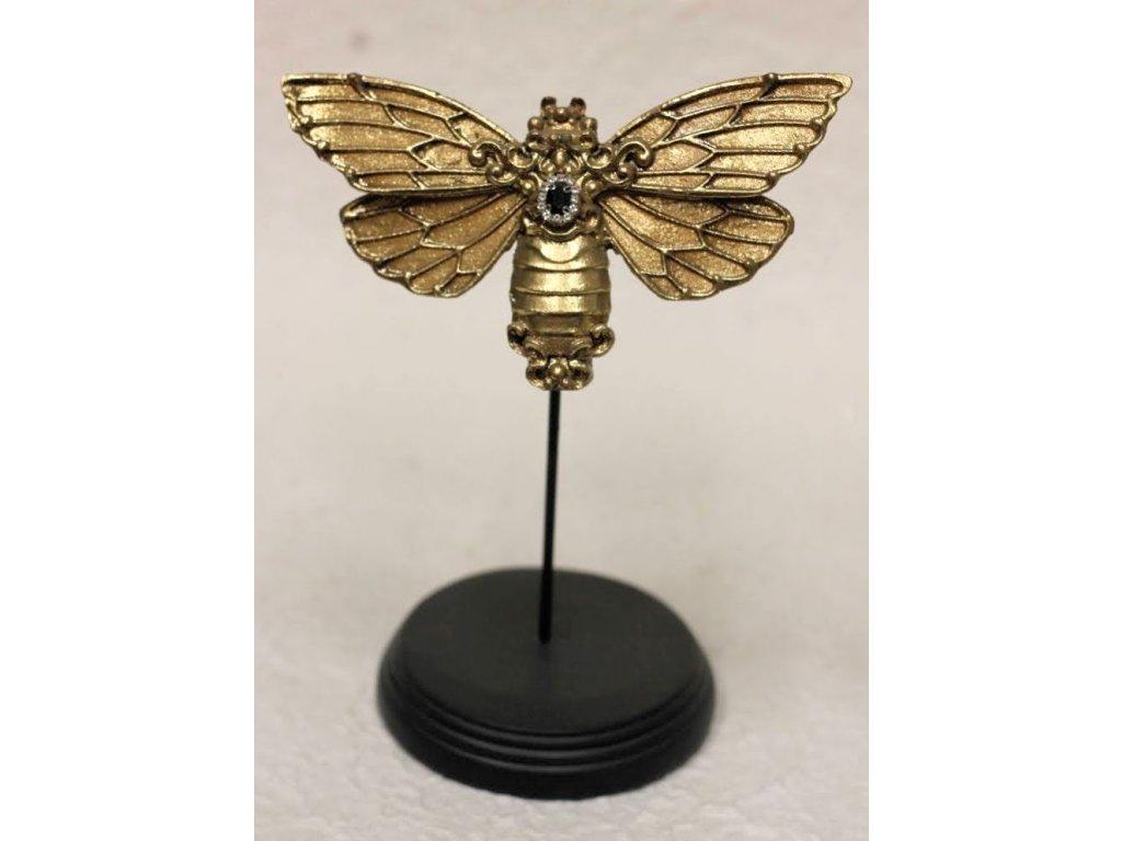 Designová dekorace zlatá 20 cm