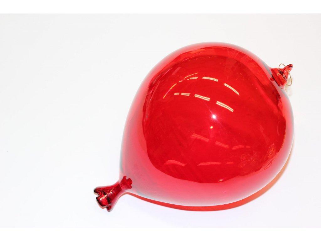 Ozdoba balon červená střední