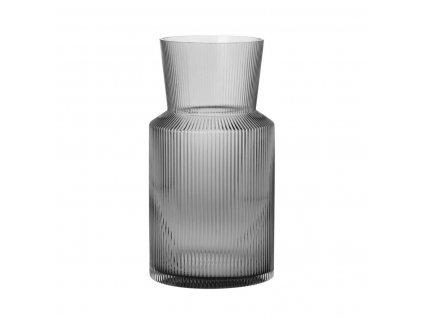 Váza sklo kouřová moderní 30 cm