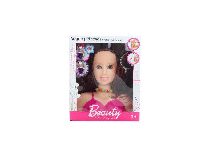 Česací hlava bruneta