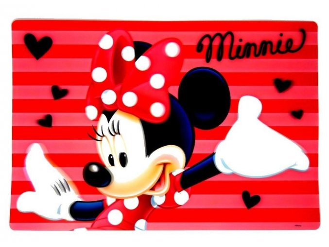 3D podložka MINNIE eli 0205 - 1 červená