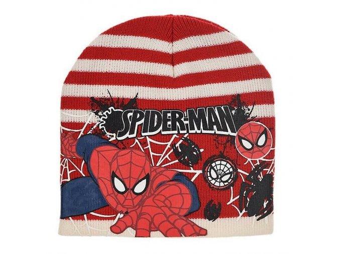 Čepice SPIDERMAN ph 4249 červeno - krémová