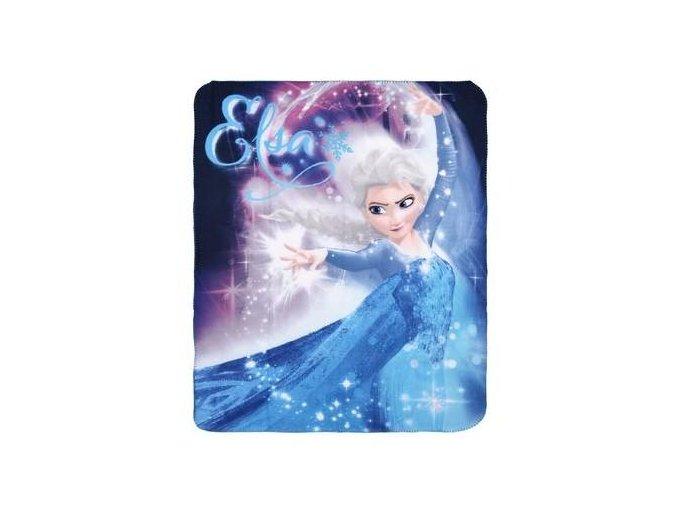 Flísová deka FROZEN 120 x 140 cm ph 4021 - 2 tyrkysová Elsa