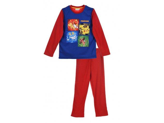 Flísové pyžamo POKEMON dph 2293 červené