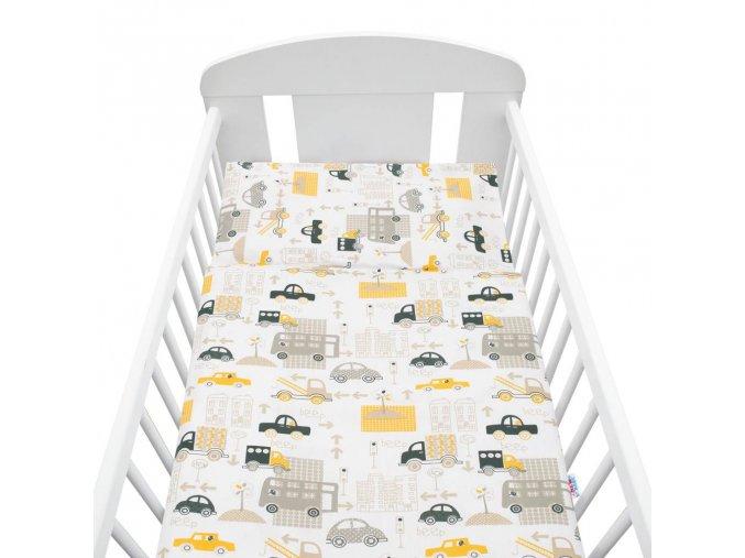 2-dílné ložní povlečení New Baby 100/135 cm autíčka