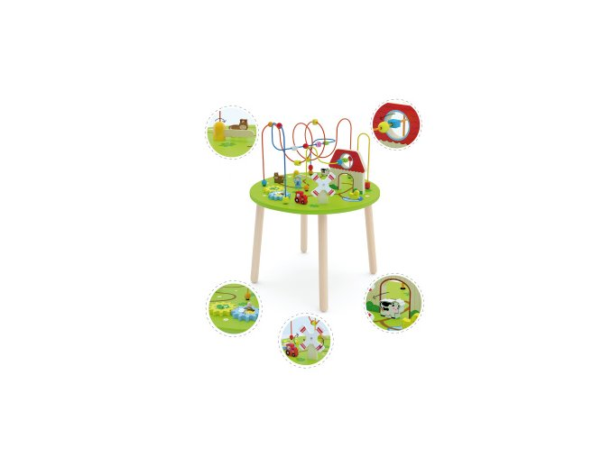 Dřevěný hrací stoleček