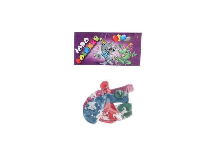 Balonky Kulatý potisk Dinosauři (4ks)