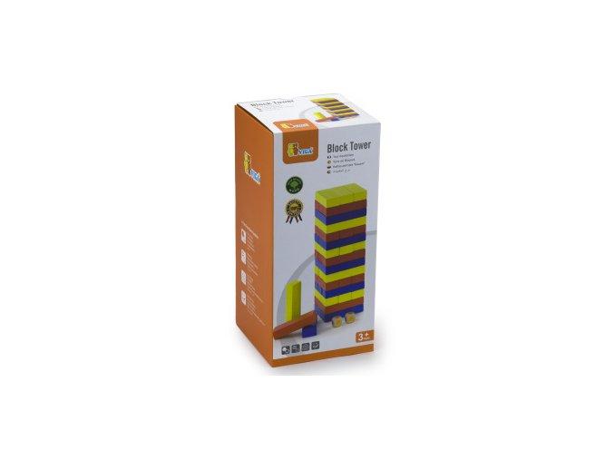 Dřevěná vež Jenga 48 ks