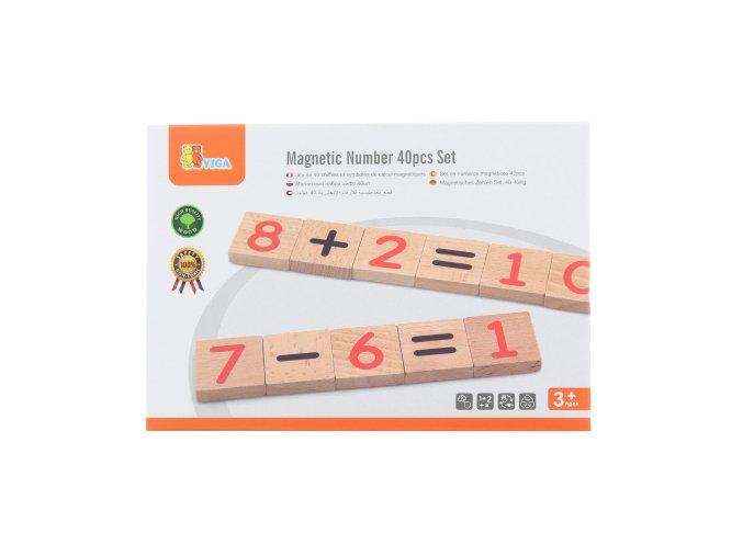 Dřevěná magnetická čísla