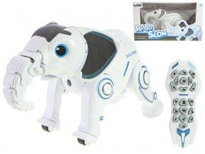 IR/C Robo-slon 33 cm na baterie se světlem a zvukem v krabičce