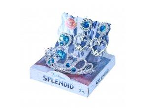 Korunka princezna s náušnicemi modrá