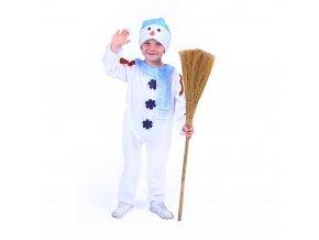 Dětský kostým sněhulák s čepicí a červenou šálou (S) EKO