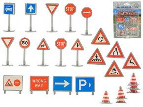 Dopravní značení 25 ks na kartě