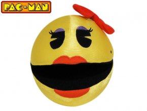 Pac-Man lesklý 14cm plyšový paní Pac-Manová 0m+