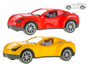 Auto sportovní 38 cm na volný chod 3 barvy v síťce