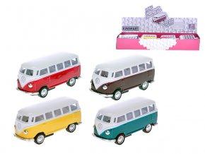 VW Classic autobus 1962 1:64 kov zpětný chod 4 barvy