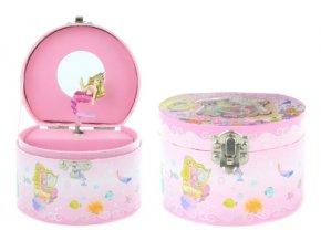 Hrací skříňka šperkovnice s mořskou pannou