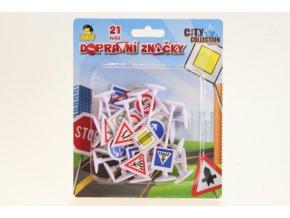 Dopravní značky na kartě 21 ks