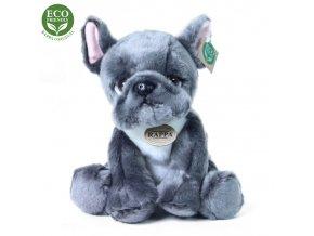 Plyšový pes fr. buldoček sedící 30 cm
