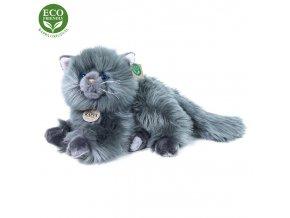 Plyšová perská kočka šedá ležící 30 cm ECO-FRIENDLY