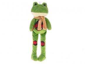Žába plyšová dlouhé nohy 34 cm 0m+ v sáčku