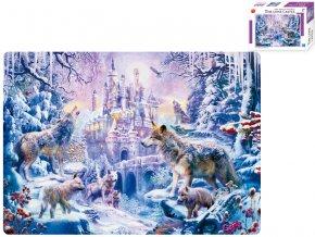 Puzzle 51x36 cm Zimní krajina 500 dílků v krabičce