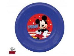 3D plastový talíř MICKEY 0478 modrý