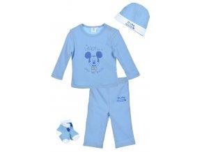 Novorozenecká souprava MICKEY box ep 0402 sv. modrá 4-dílná