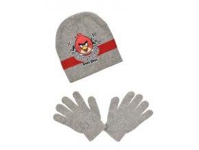 Čepice a rukavice ANGRY BIRDS ho 4158 šedá